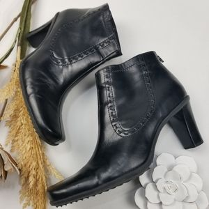 Franco Sarto - Black Square Toe 3in Ankle Boots 7m